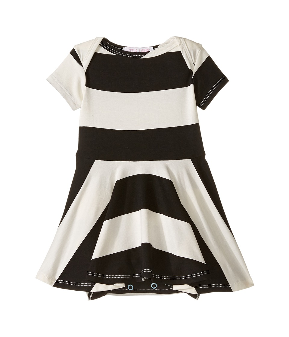 fiveloaves twofish - All-In-One Play Dress (Infant) (Black/White) Girl's Dress