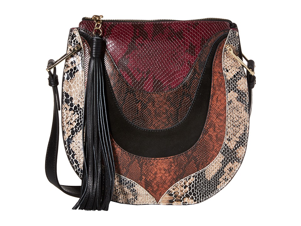Sam Edelman - Sienna Multi Texture Shoulder (Black Multi) Shoulder Handbags