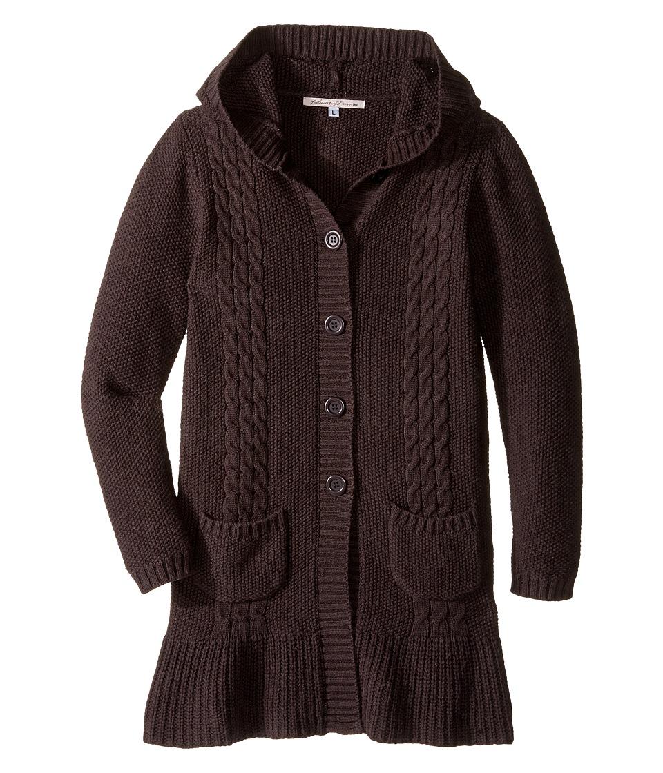 fiveloaves twofish Hoodie Sweater Coat (Little Kids/Big Kids) (Charcoal) Girl