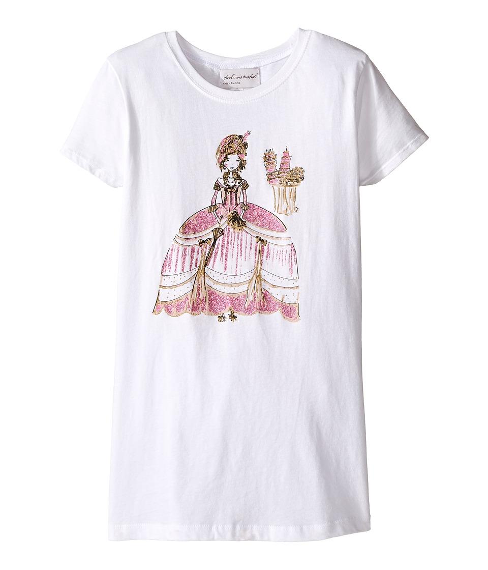 fiveloaves twofish - Marie Antoinette Tee (Little Kids/Big Kids) (White) Girl's T Shirt