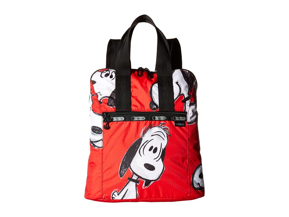 LeSportsac - Everyday Backpack (Snoopy Fun Red) Backpack Bags