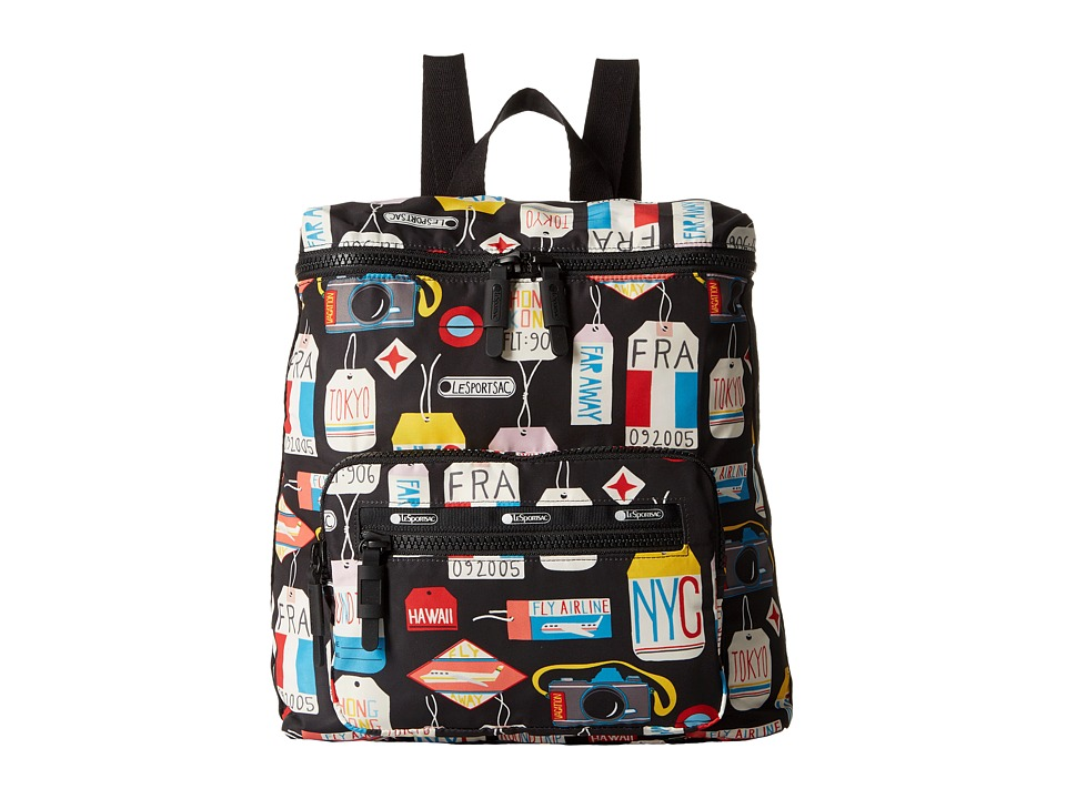 LeSportsac Luggage - Portable Backpack (Boarding Pass) Backpack Bags