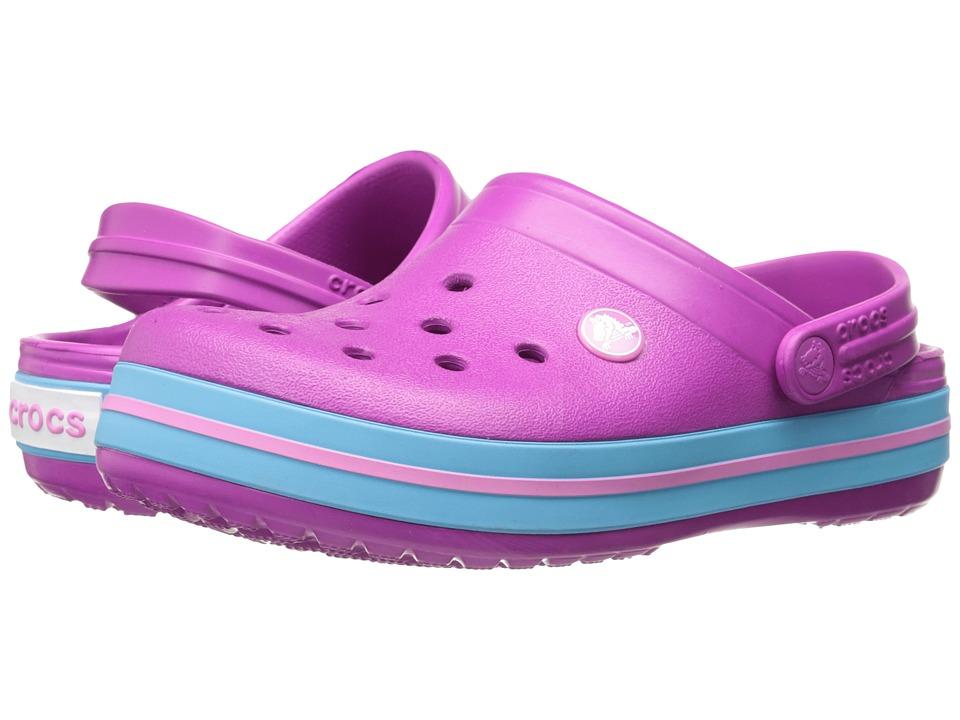 Crocs Kids - Crocband Clog (Toddler/Little Kid) (Vibrant Violet) Kids Shoes
