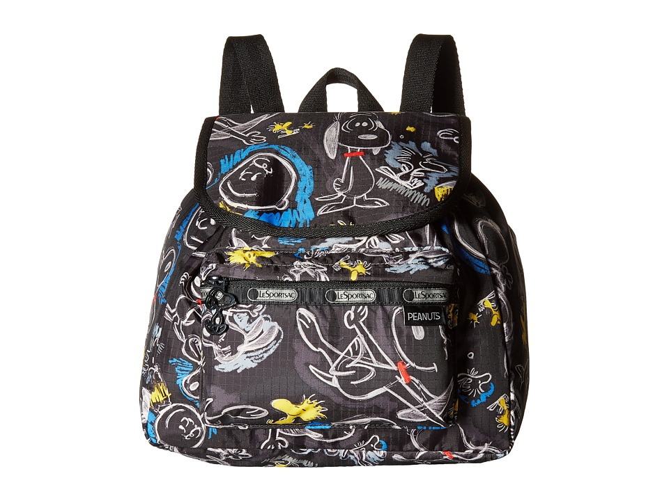 LeSportsac - Small Edie Backpack (Chalkboard Snoopy) Backpack Bags