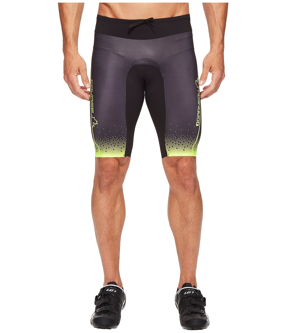 Louis Garneau - Tri Course Shorts (Black/Bright Yellow) Men's Workout
