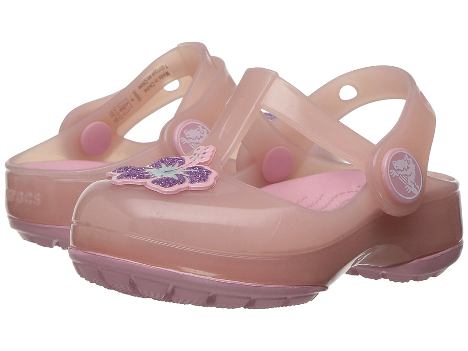 Crocs Kids - Isabella Clog PS (Toddler/Little Kid) (Blush) Girls Shoes