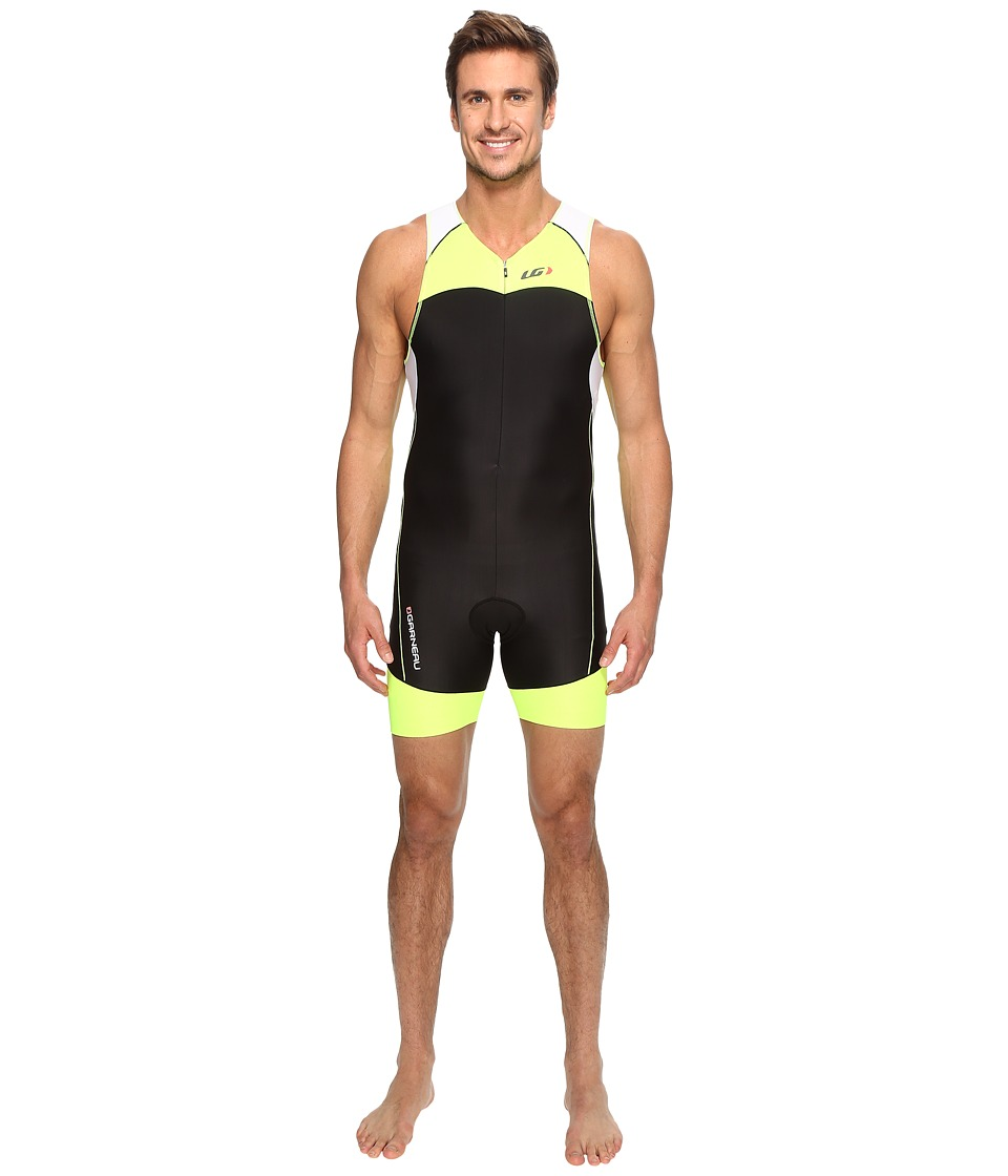 Louis Garneau - Men Comp Suit (Black/Bright Yellow) Men's Race Suits One Piece