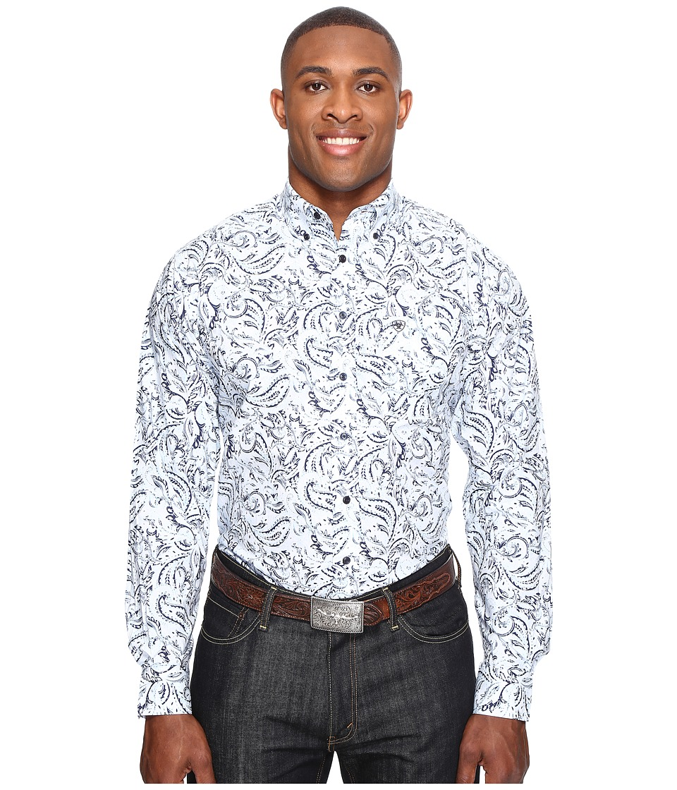 Ariat - Big Tall Bronson Long Sleeve Print (Sheltering Sky) Men's Clothing