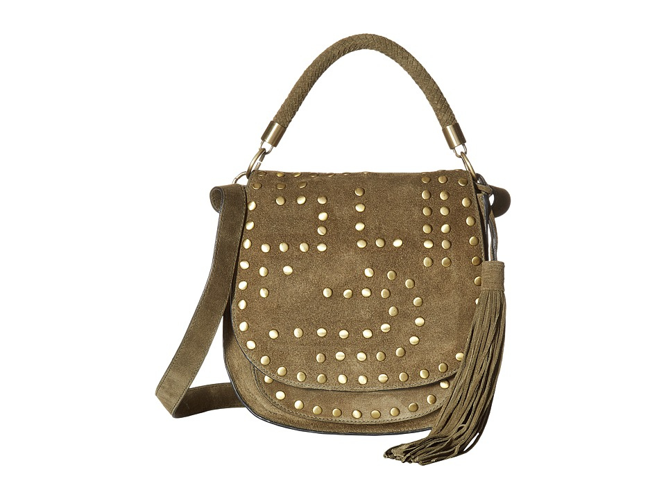 Sam Edelman - Heidi Studded Saddle (Moss) Handbags