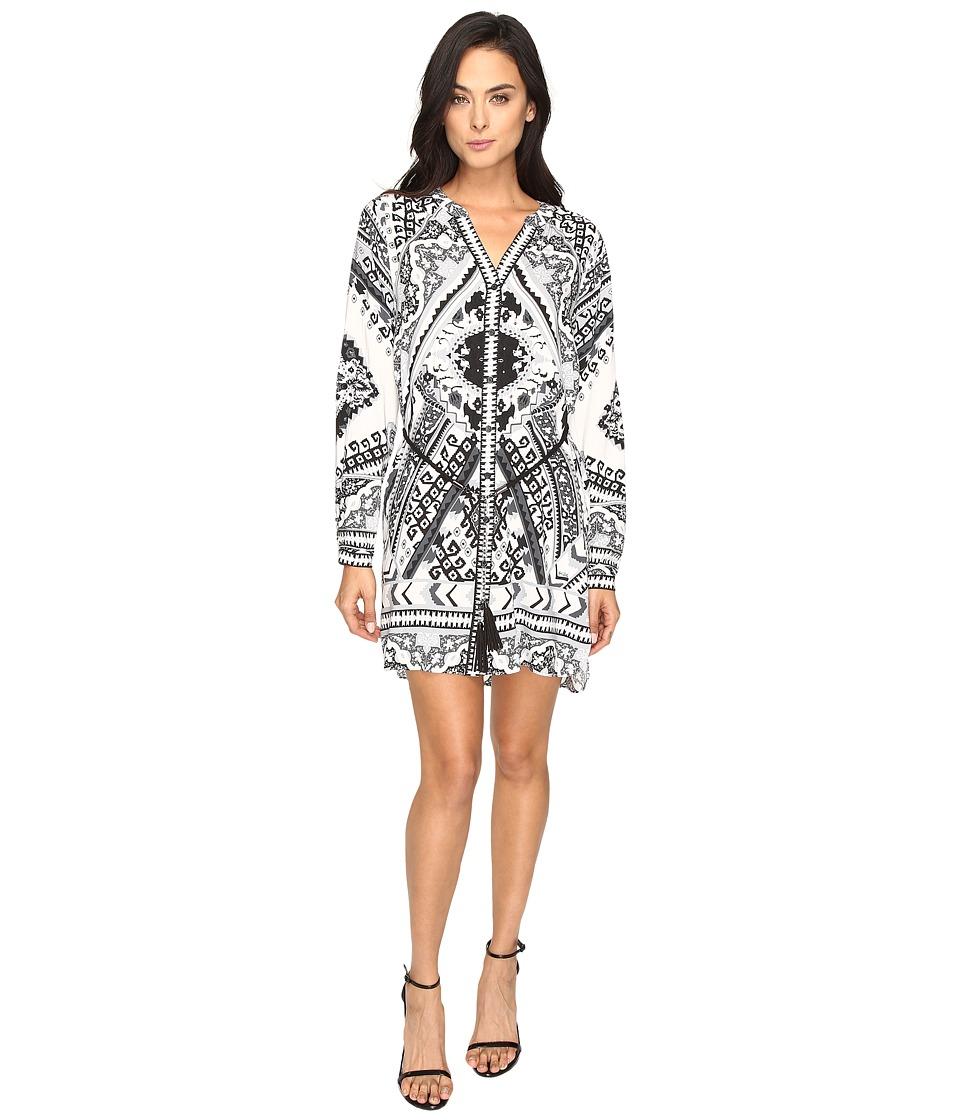 Hale Bob - True Colors Shirtdress (Black/White) Women's Dress