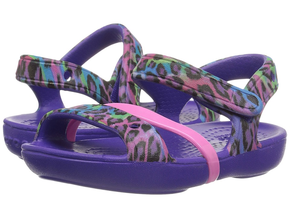 Crocs Kids - Lina Sandal (Toddler/Little Kid) (Ultraviolet) Girls Shoes
