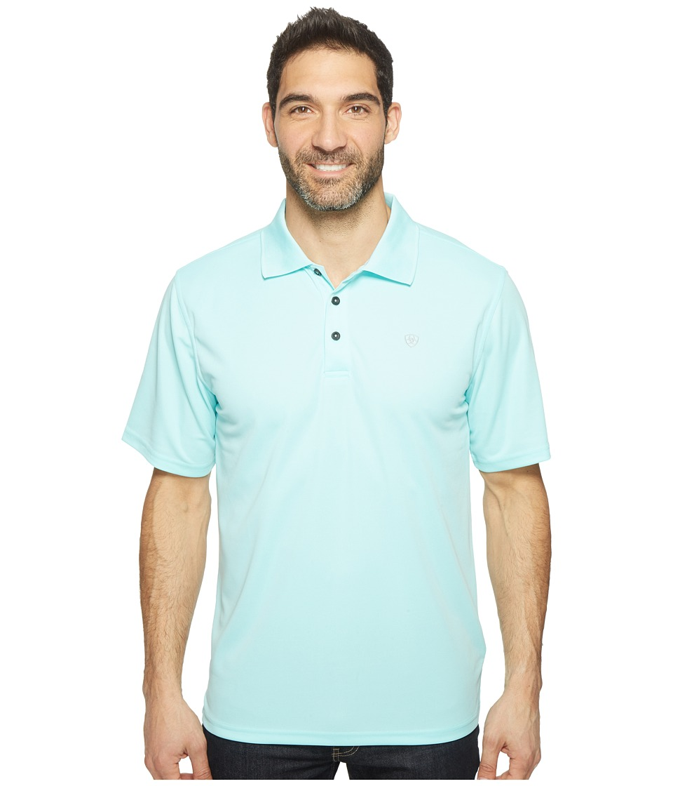Ariat - Tek Polo (Aruba Blue) Men's Short Sleeve Pullover