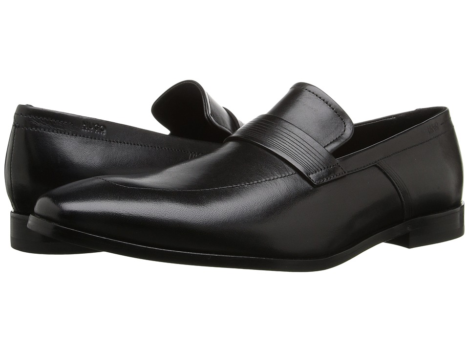 BOSS Hugo Boss - Square Loafer by HUGO (Black) Men's Slip on Shoes