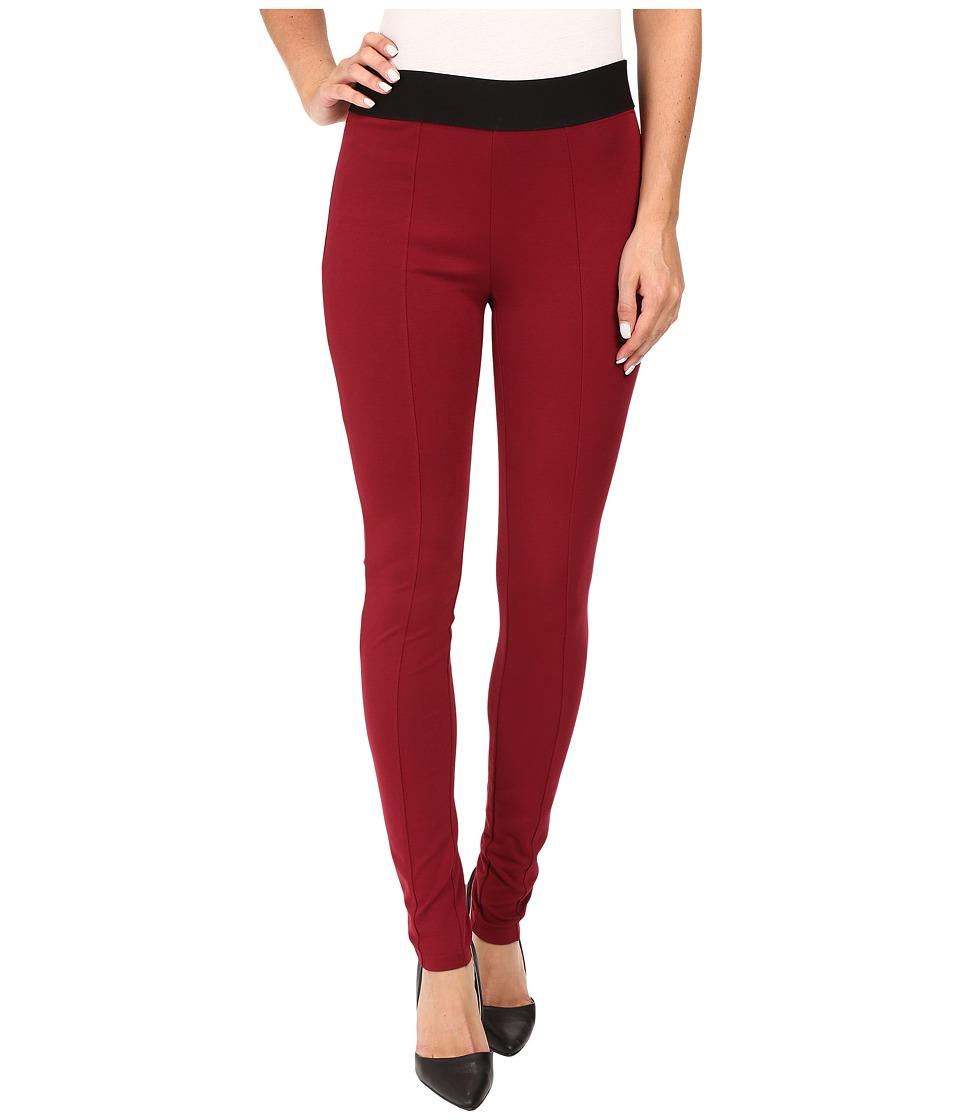 HUE - Blackout Leggings (Sangria) Women's Casual Pants