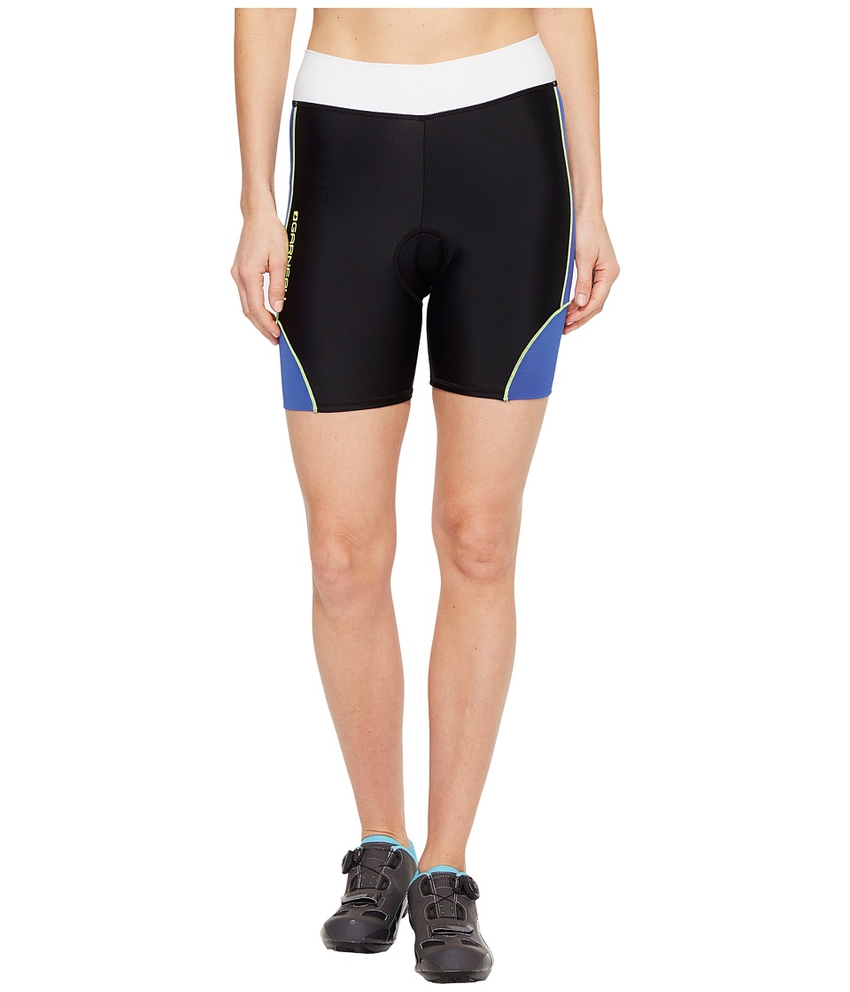 Louis Garneau - Women Comp Shorts (Black/Dazzling Blue/Bright Yellow) Women's Shorts
