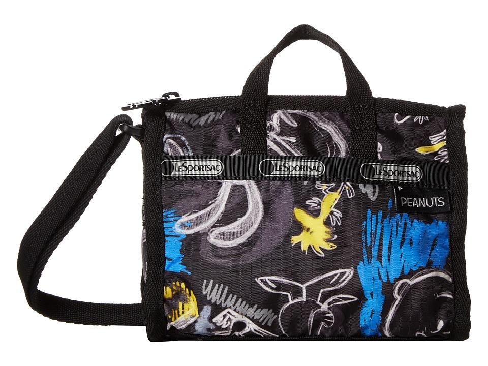 LeSportsac - Petite Weekender Crossbody (Chalkboard Snoopy) Cross Body Handbags