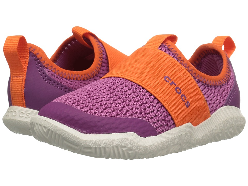 Crocs Kids - Swiftwater Easy-On Shoe (Toddler/Little Kid) (Party Pink/Tangerine) Kid's Shoes