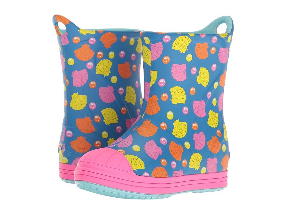 Crocs Kids Bump It Graphic Boot (Toddler/Little Kid) (Ocean/Multi) Girls Shoes