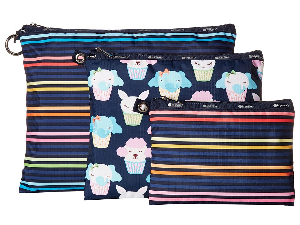 LeSportsac - Multi Pouch Set (Baby Lestripe Multi) Travel Pouch