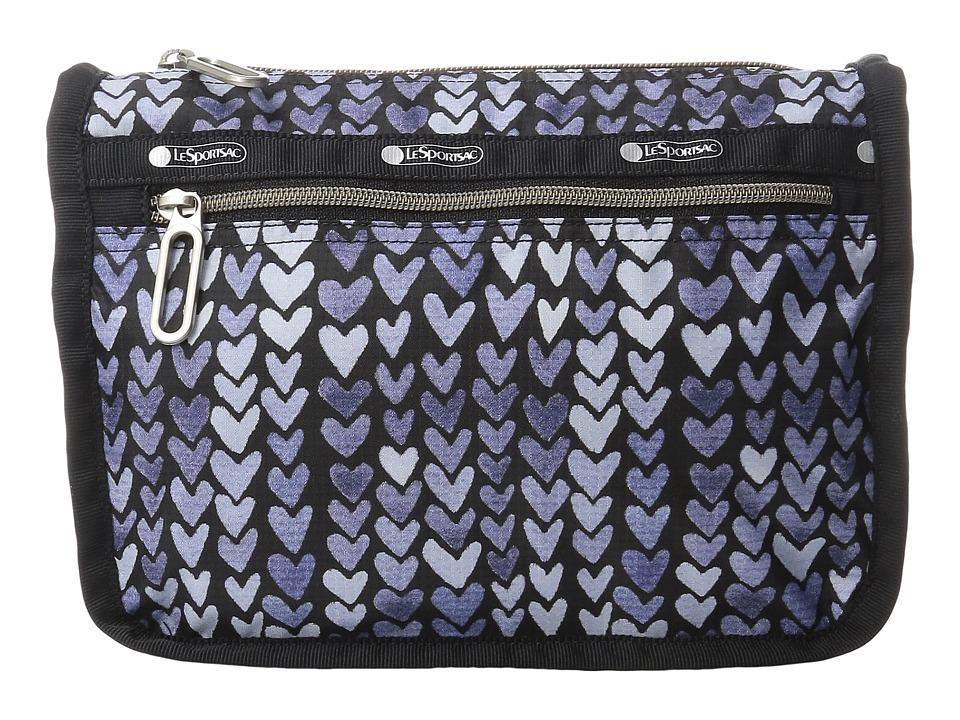LeSportsac Everyday Cosmetic Case (Painted Hearts Blue) Cosmetic Case