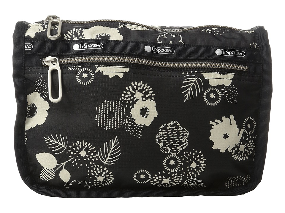 LeSportsac Everyday Cosmetic Case (Autumn Floral Black) Cosmetic Case