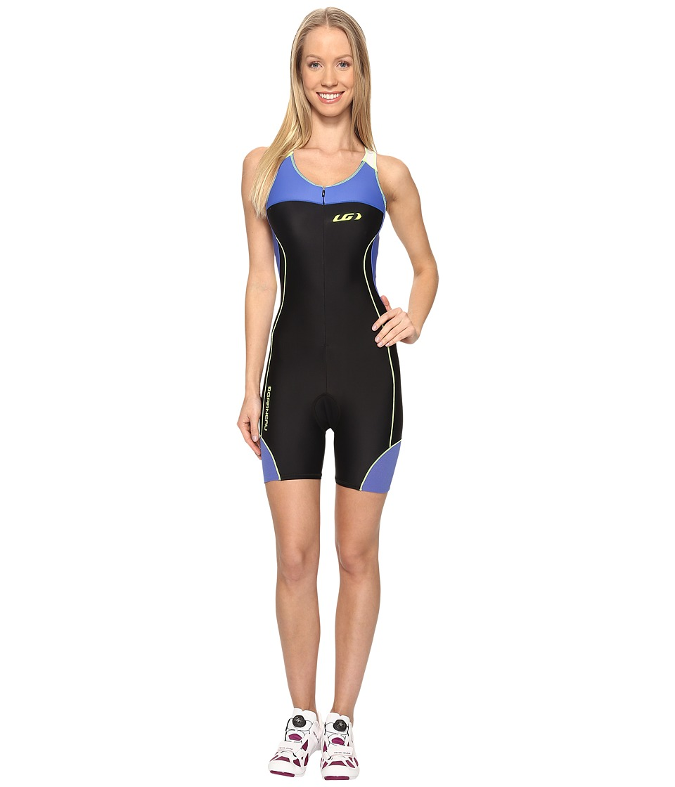 Louis Garneau - Women Comp Suit (Black/Dazzling Blue/Bright Yellow) Women's Race Suits One Piece