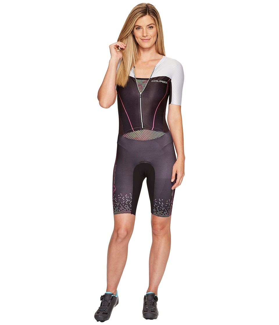 Louis Garneau - Tri Course LGneer Skinsuit (Black/Multicolor) Women's Race Suits One Piece