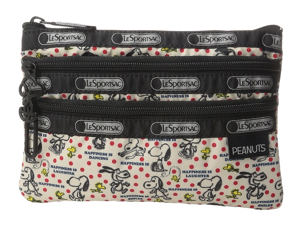 LeSportsac - Peanuts 3 Zip Cosmetic (Happiness Dots) Cosmetic Case