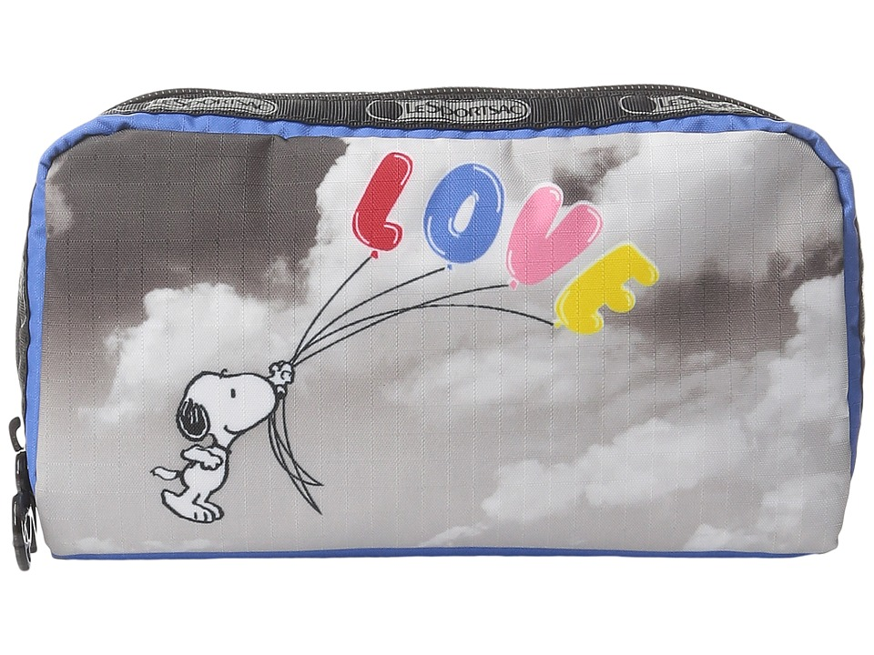 LeSportsac - Rectangular Cosmetic (Snoopy Fly Away) Clutch Handbags