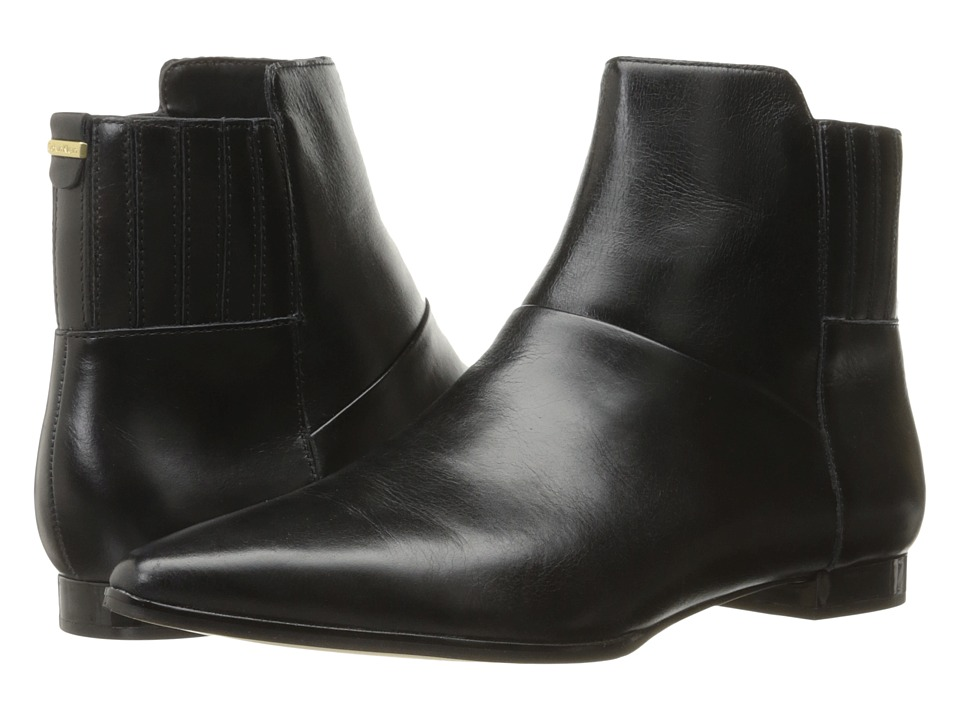 Calvin Klein - Eunice (Black Crackled Leather) Women's Shoes