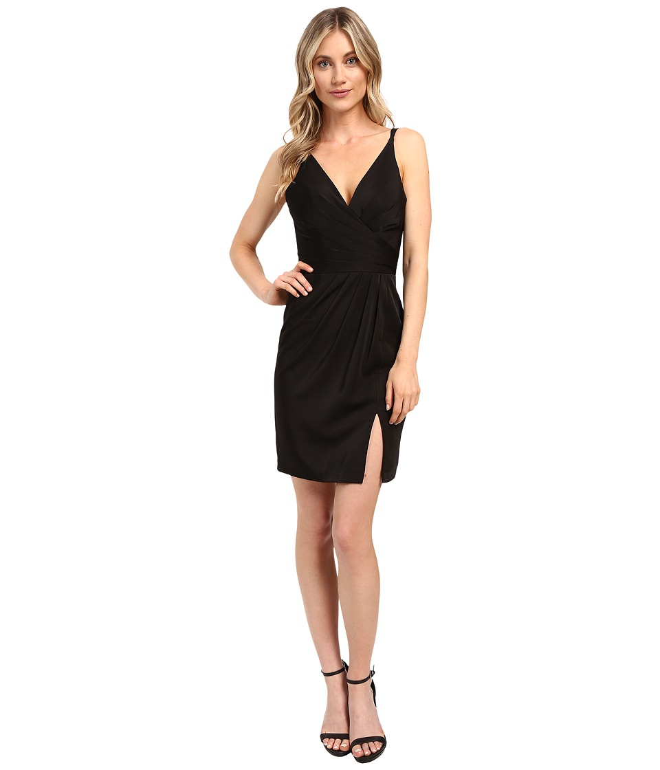 Faviana - Chiffon V-Neck w/ Full Skirt 7850 (Black) Women's Dress