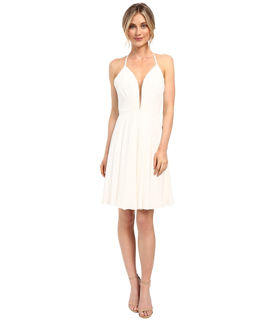 Faviana - Chiffon V-Neck w/ Full Skirt 7851 (Ivory) Women's Dress