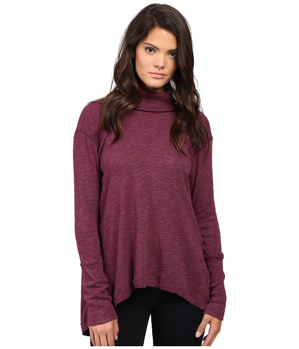 Free People - Tara Turtleneck (Plum) Women's Clothing