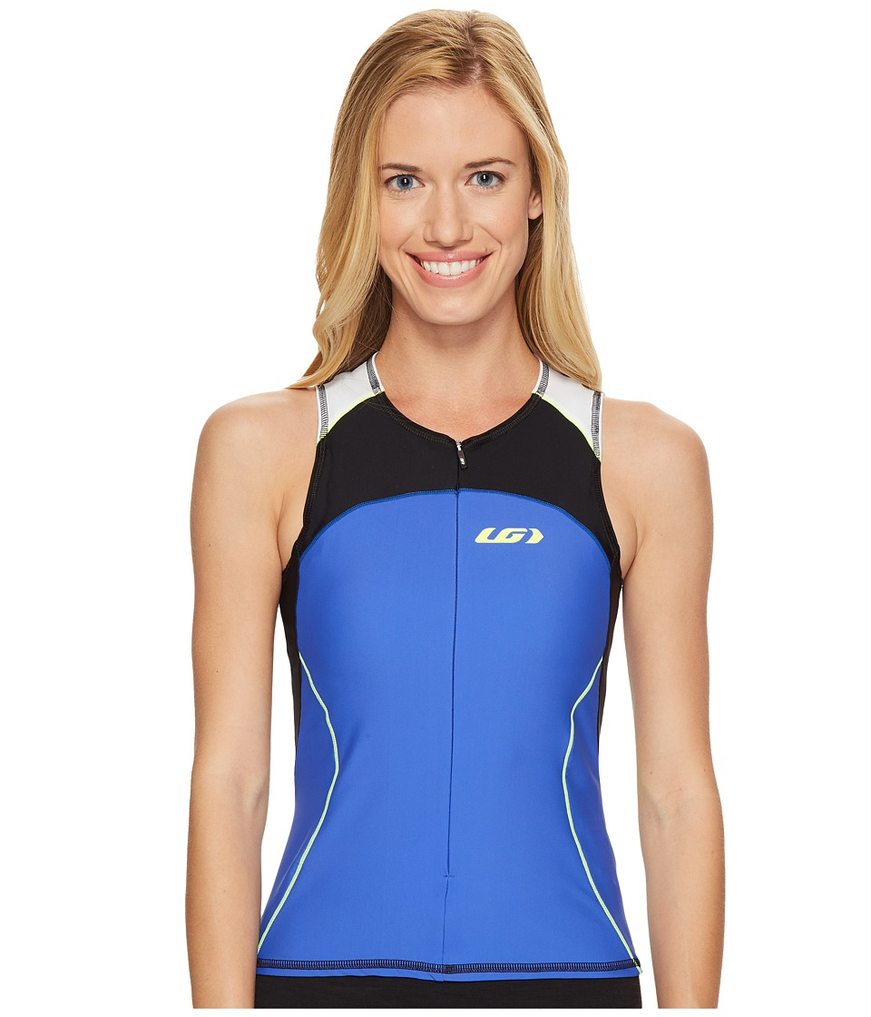 Louis Garneau - Women Comp Sleeveless (Black/Dazzling Blue/Bright Yellow) Women's Sleeveless