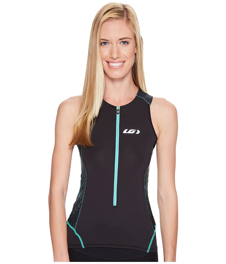 Louis Garneau - Pro Carbon Sleeveless Tri Top (Black/Mojito) Women's Sleeveless