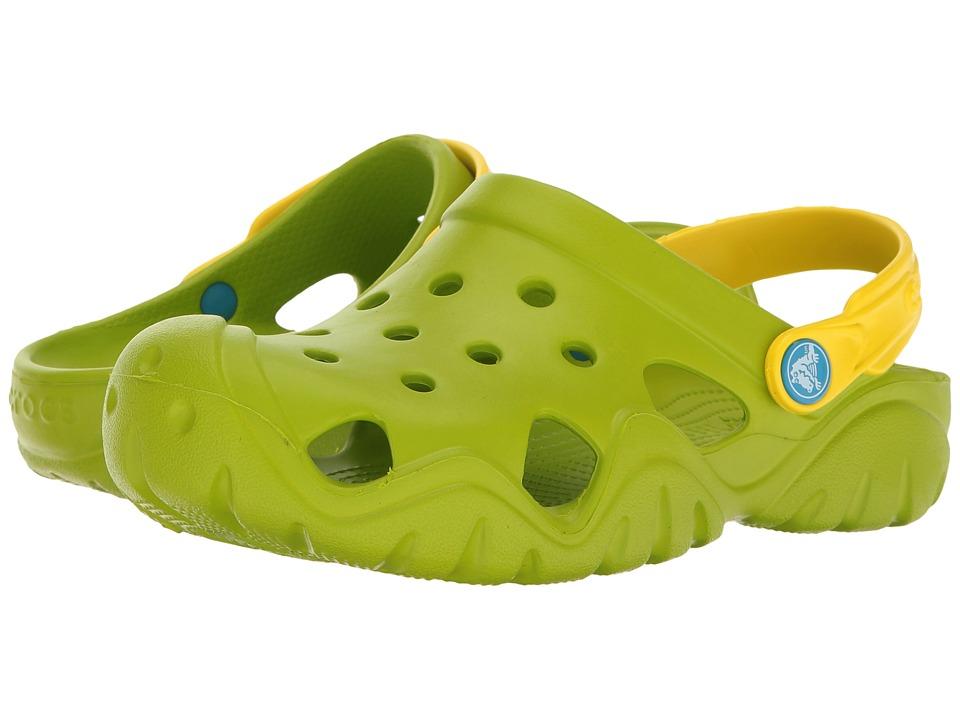 Crocs Kids - Swiftwater Clog (Toddler/Little Kid) (Volt Green/Lemon) Kids Shoes