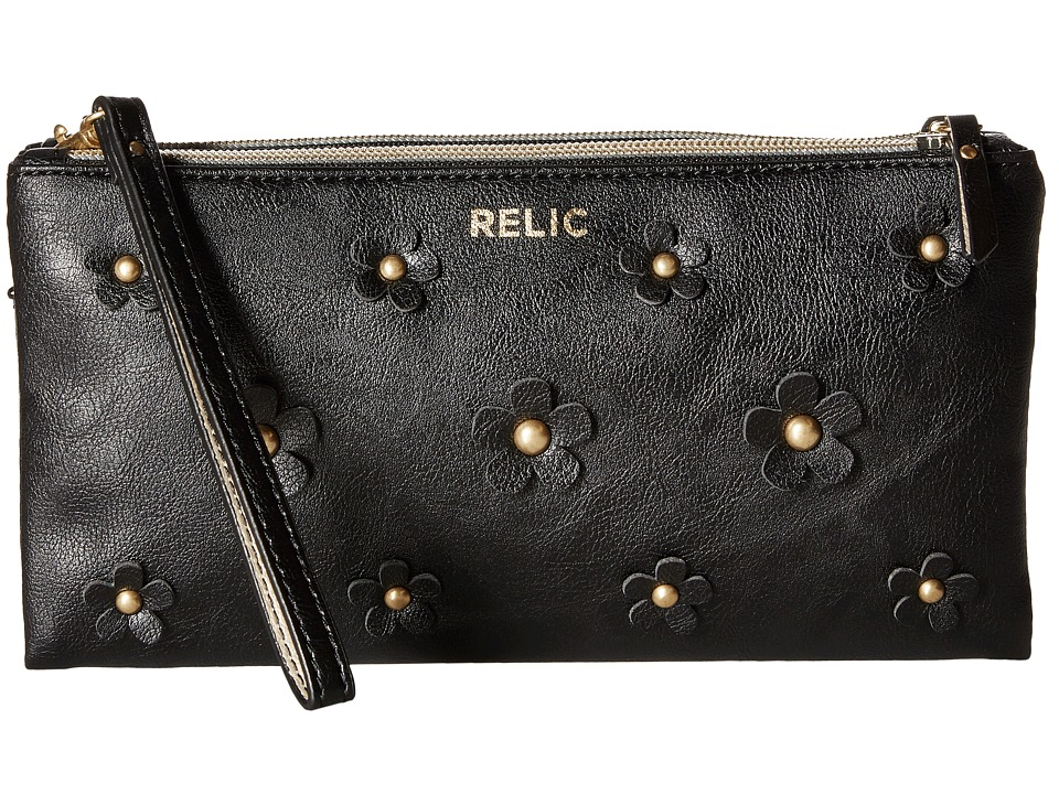 Relic - Emma Wristlet Crossbody (Black) Cross Body Handbags