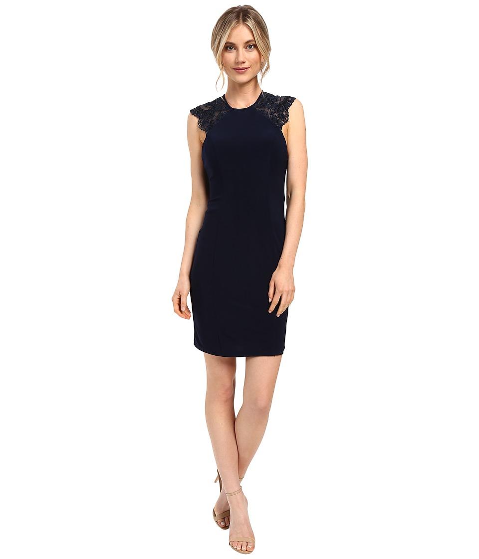 Faviana Jersey w/ Lace Details 7857 (Navy) Women