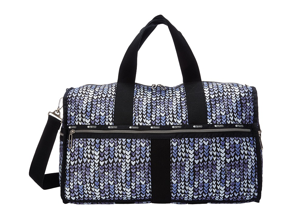 LeSportsac Luggage - Large Weekender (Painted Hearts Blue) Weekender/Overnight Luggage