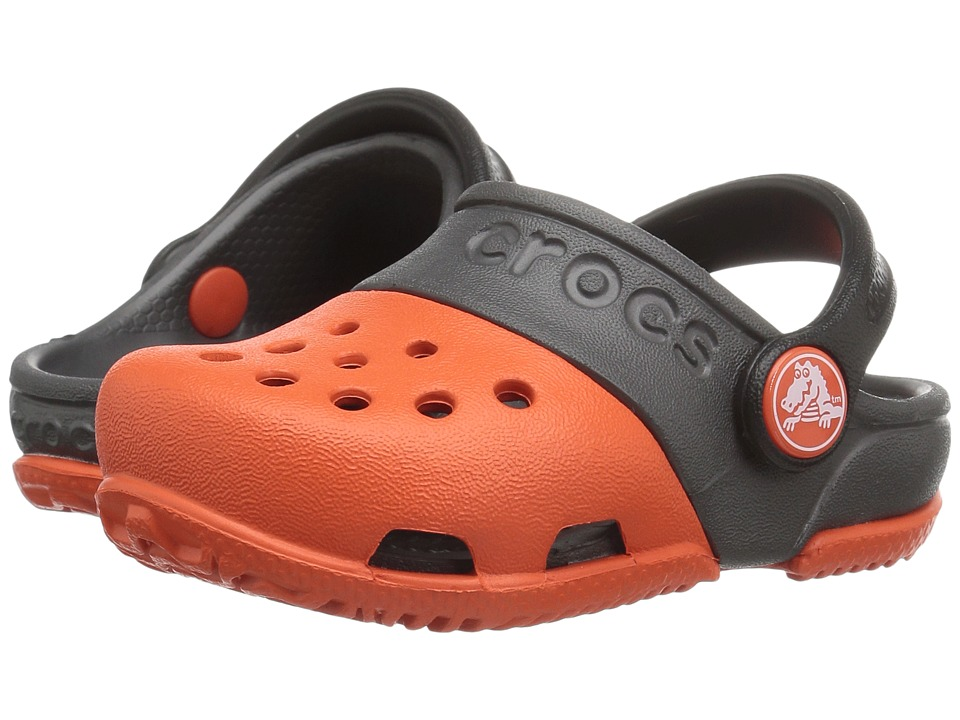 Crocs Kids - Crocs Kids - Electro II Clog (Toddler/Little Kid) (Tangerine/Graphite) Kids Shoes