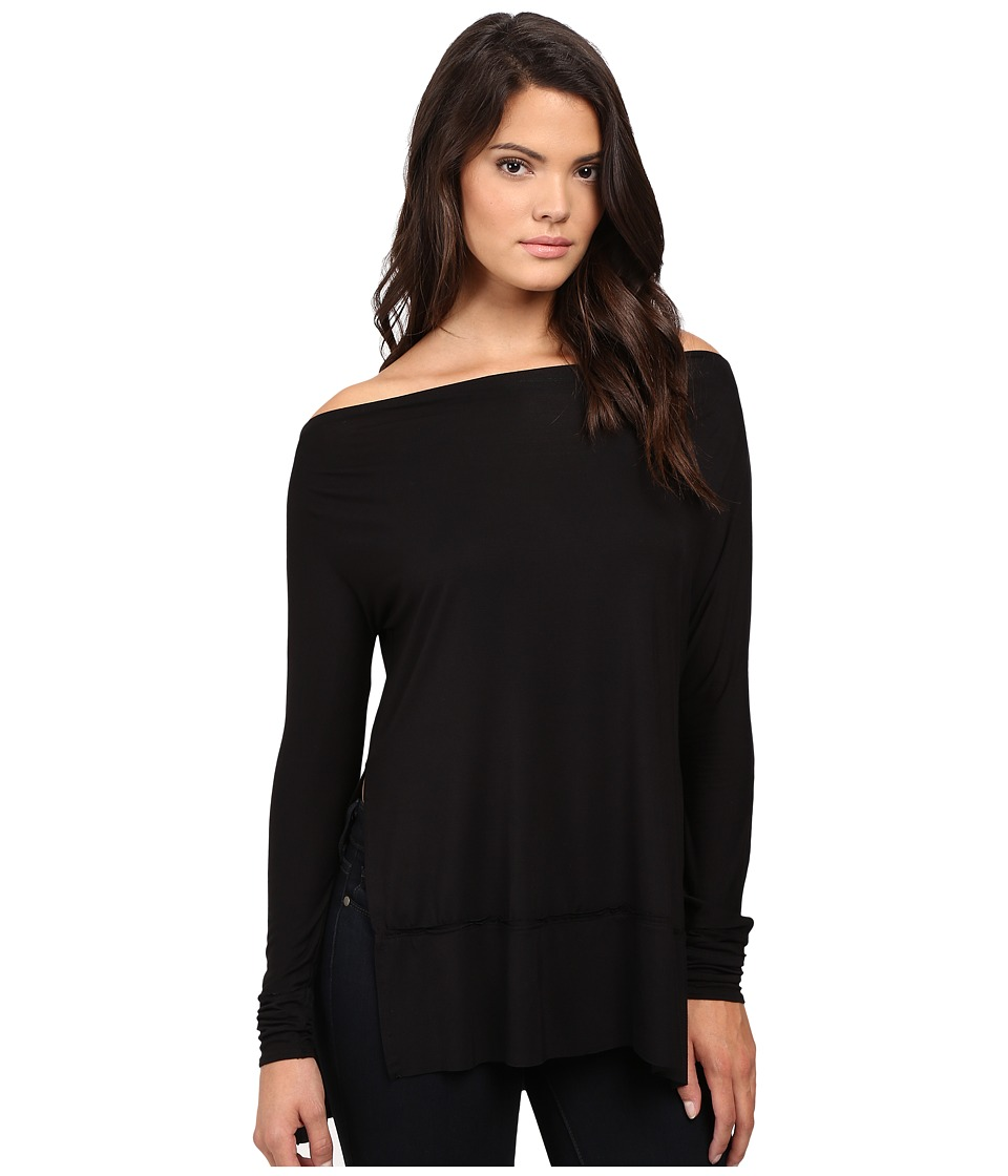 Free People - Luna Tee (Black) Women's T Shirt