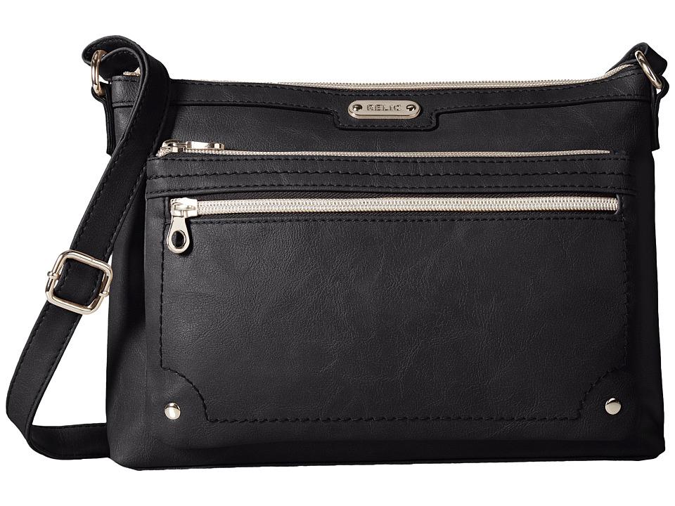 Relic - Evie East West Crossbody (Black) Cross Body Handbags