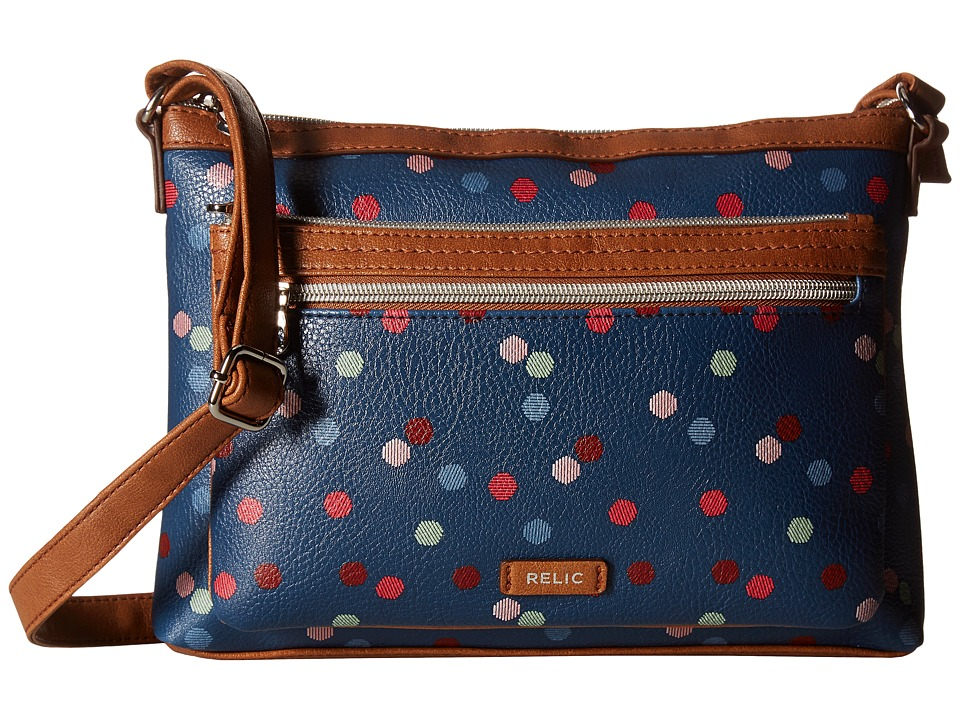 Relic - Evie East West Crossbody (Navy Multi) Cross Body Handbags