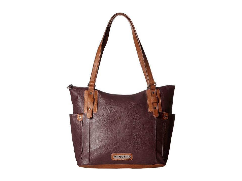 Relic - Monroe Tote (Raisin) Tote Handbags