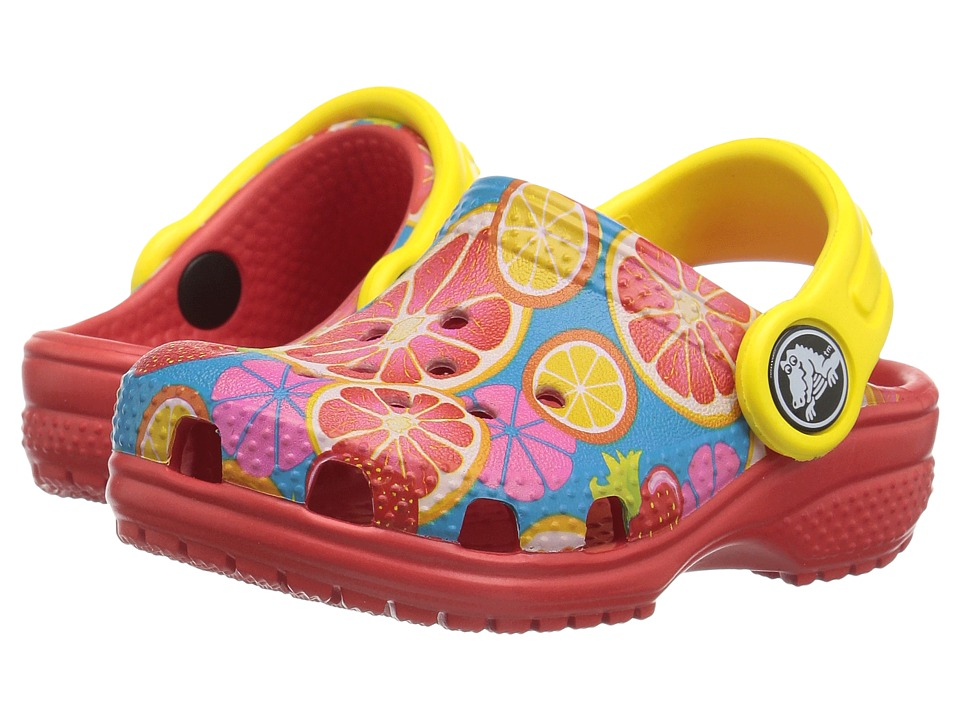 Crocs Kids - Classic Fruit Clog (Toddler/Little Kid) (Flame) Kids Shoes