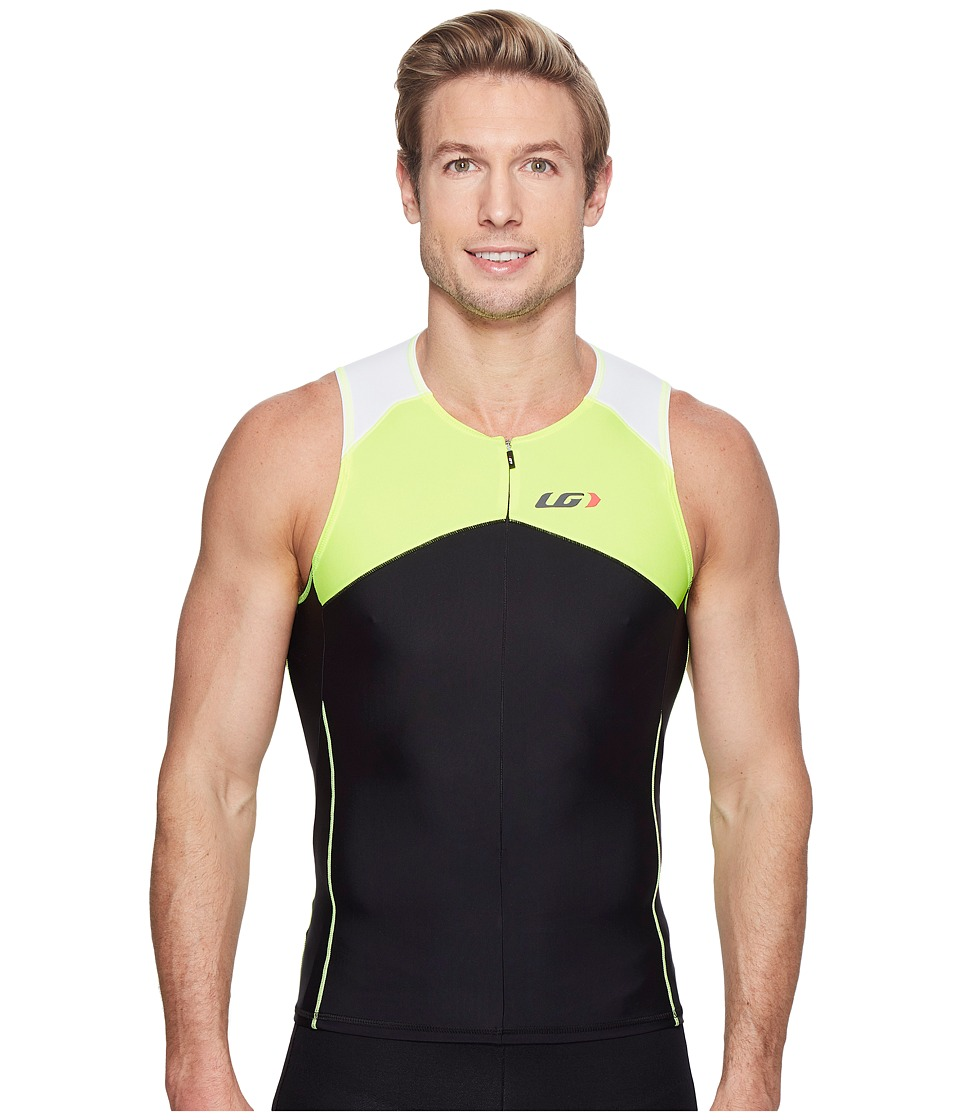Louis Garneau - Men Comp Sleeveless (Black/Bright Yellow) Men's Sleeveless