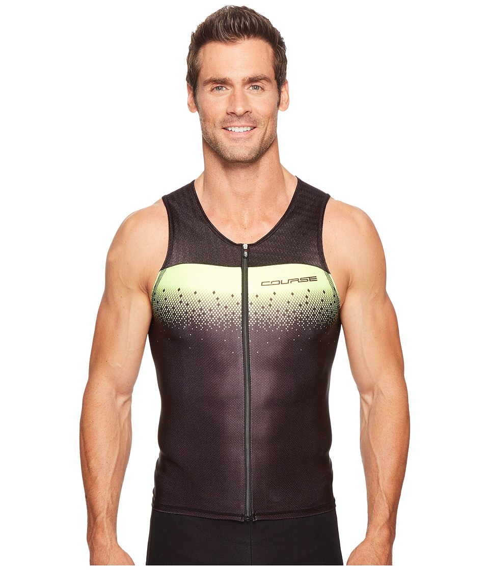 Louis Garneau - Tri Course Sleeveless (Black/Bright Yellow) Men's Sleeveless