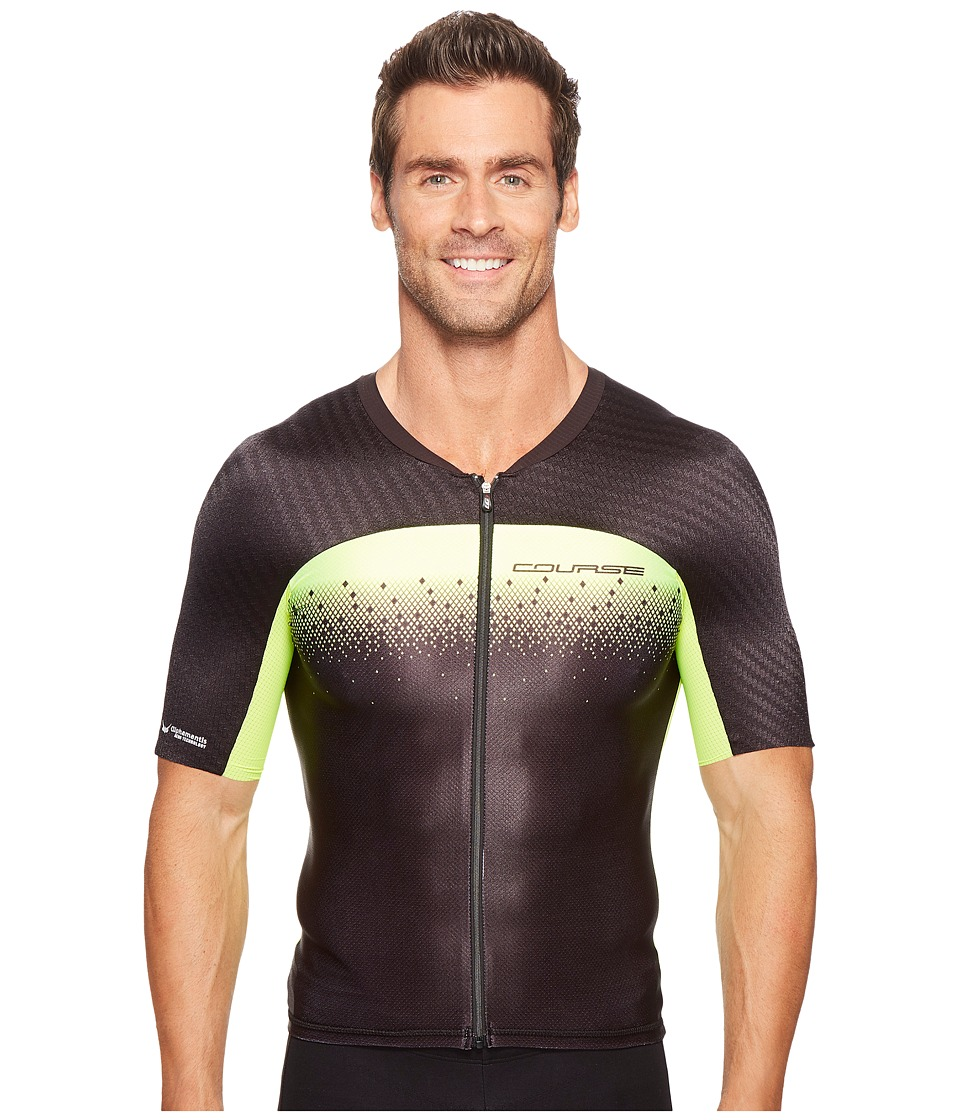 Louis Garneau - Tri Course M-2 Jersey (Black/Bright Yellow) Men's Clothing