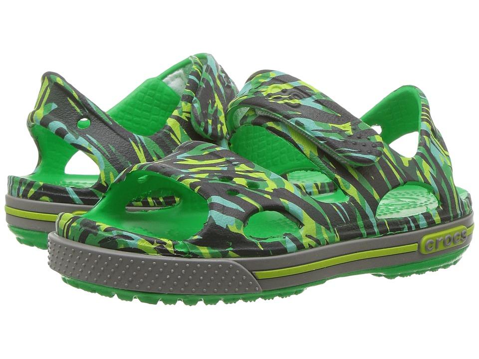 Crocs Kids - Crocband II Graphic Sandal (Toddler/Little Kid) (Grass Green) Kids Shoes