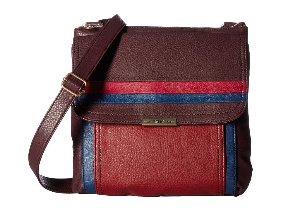 Relic - Kenna Top Zip Crossbody (Maroon Multi) Cross Body Handbags